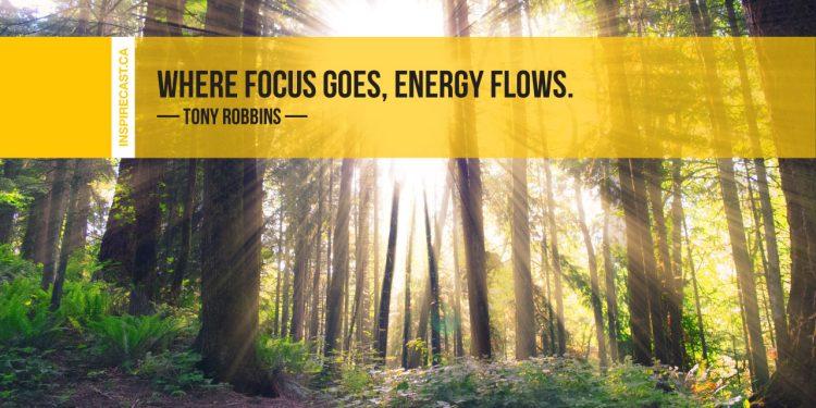 Where focus goes, energy flows. ~ Tony Robbins
