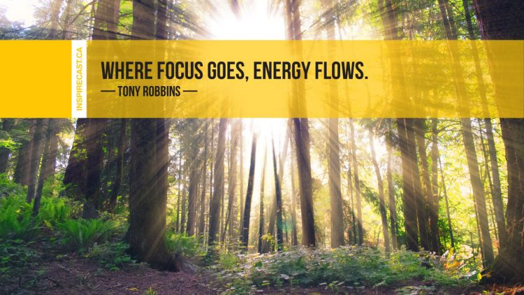 Where focus goes, energy flows. ~ Tony Robbins