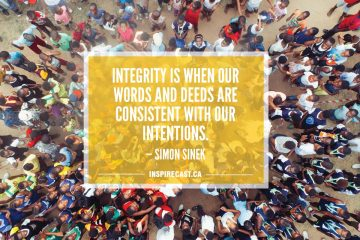 Integrity is when our words and deeds are consistent with our intentions. — Simon Sinek