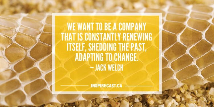 We want to be a company that is constantly renewing itself, shedding the past, adapting to change. — Jack Welch