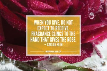 When you give, do not expect to receive, Fragrance clings to the hand that gives the rose. — Carlos Slim