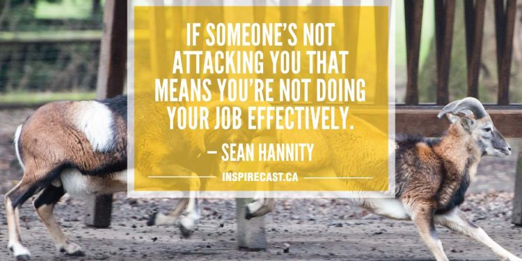 If someone's not attacking you that means you're not doing your job effectively. — Sean Hannity