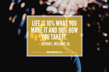 Life is 10 percent what you make it and 90 percent how you take it. — Arthur L. Williams, Jr.