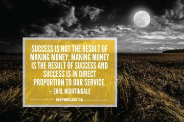 Success is not the result of making money; making money is the result of success and success is in direct proportion to our service. — Earl Nightingale