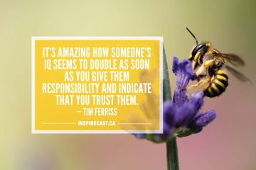It's amazing how someone's IQ seems to double as soon as you give them responsibility and indicate that you trust them. — Tim Ferriss