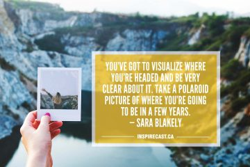 You've got to visualize where you're headed and be very clear about it. Take a Polaroid picture of where you're going to be in a few years. — Sara Blakely