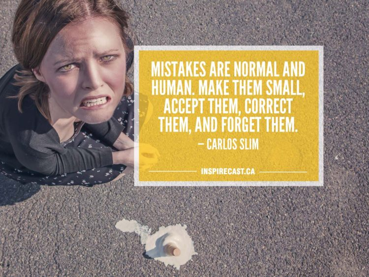 Mistakes are normal and human. Make them small, accept them, correct them, and forget them. — Carlos Slim